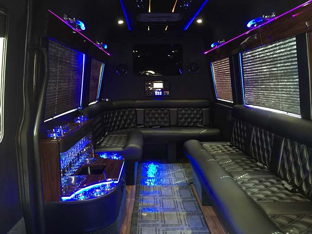 box cars limo Mercedes sprinter interior