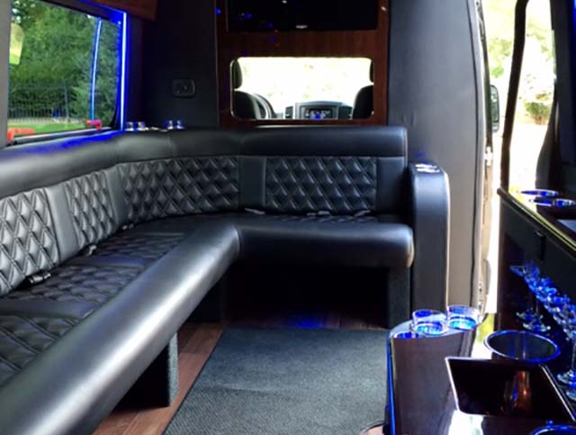 box cars limo sprinter interior